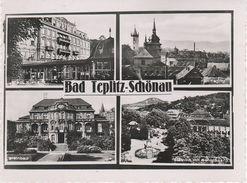 AK Bad Teplitz Schönau Teplice Kurhaus Steinbad Schloßberg Bei Zinnwald Eichwald Graupen Wisterschan Turn Drakowa Dux - Sudeten
