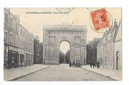 CHALONS-sur-MARNE  (cpa 51)  Porte Ste-Croix -   - L 1 - Châlons-sur-Marne