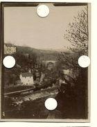 Ville Village à Situer Identifier  Pont France Albumine XIX Vue Pittoresque Style Corot - Places