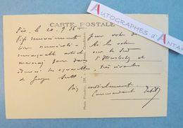 CPA 1936 Signée Par Un Militaire à Identifier - FES - Casbah De Ouarzazat - MAROC - à André Armandy écrivain L.A.S - Autographes