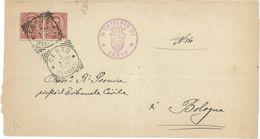 DA CENTO (FE) A BOLOGNA 3/1/1900 CON COPPIA DEL 10 C. SERIE UMBERTO I 1891 - SASSONE N.60 STEMMA MUNICIPIO CENTO USATO ʘ - Marcophilie