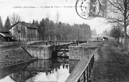 CPA De CORRE (Haute-Saône) - Le Canal De L'Est . Ecluse D'un Bateau. Circulée. Bon état. - Autres Communes