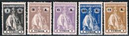 Timor, 1914, # 163, 165, 167/9, MH - Timor