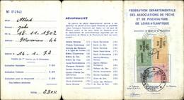 PECHE - Pêche à La Ligne - Carte De Pêche Et De Pisciculture 1972 - Loire Atlantique - Vieux Papiers