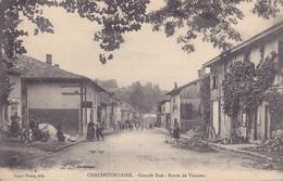 Chaudefontaine Grande Rue Route De Vouziers   Carte Allemande - Francia
