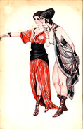 COUPLE DE COMEDIENNES ANTIQUES CPA Style Art Nouveau (érotique)bon état Voir Scans - Illustrateurs & Photographes