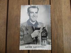 PHOTO LUCIEN LAZARIDES CYCLISTE PUBLICITE POUR SAINT RAPHAEL  BOUTEILLE VIN - Cyclisme
