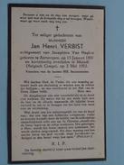 DP Jan Henri VERBIST ( Van Neylen ) Antwerpen 15 Jan 1897 - MATADI ( Belgisch Congo ) 2 Mei 1952  ! - Overlijden