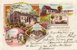 CPA - HAGUENAU (67) - Carte Lithographique De 1900 Du Schiessplatz - Restaurant - Casernes - Poste De Garde - Haguenau