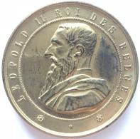 Médaille. Léopold II. Grand Concours International De Sciences E De L'industrie.  35 Mm - 102 Gr - Monetary / Of Necessity