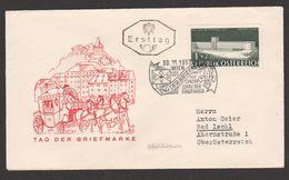 """Österreich 1957: ET/FDC  """"Tag Der Briefmarke"""" (s.Foto/Scan) - FDC"""