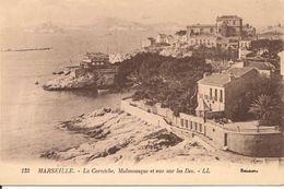 L100C347 - Marseille - La Corniche, Malmousque Et Vue Sur Les Iles  -  Selecta  N°133 - Endoume, Roucas, Corniche, Plages