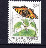 Norway 1993 Mi. 1115   3.50 (Kr) Schmetterling Butterfly Papillon Deluxe Cancel : STORD B. !! - Norwegen