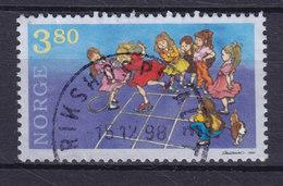 Norway 1998 Mi. 1290   3.80 (Kr) Kinderspiele Paradieshüpfenn Deluxe Cancel : RIKSHOSPITALET !! - Norwegen