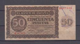 EDIFIL 420.   50 PTAS 21 DE NOVIEMBRE DE 1936 SERIE B - [ 3] 1936-1975 : Régence De Franco