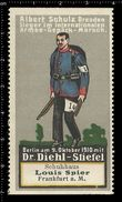 German Poster Stamp, Reklamemarke, Vignette, Schuhhaus, Shoe House, Louis Spier, Frankfurt, Armee - Cinderellas