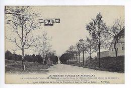CPA Le Premier Voyage En Aéroplane 1908 Farman Après La Traversée Du Fort De La Pompelle N° 21 - Aviateurs