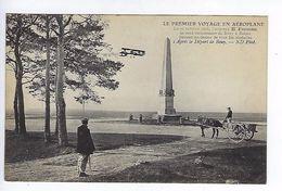 CPA Le Premier Voyage En Aéroplane 1908 Farman Après Le Départ De Bouy N° 1 - Aviateurs