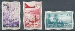 Maroc Poste Aérienne YT N°100/102 Sites Neuf ** - Aéreo