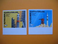 Timbre Non Dentelé  N° 258 Et 259  Coopération Spatiale U.S.A. - U.R.S.S.  Apollo-Soyuz  1976 - Centrafricaine (République)