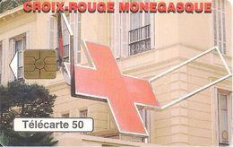 CARTE°-PUBLIC-MONACO-50U-MF48-GEM2-04/98-CROIX ROUGE-Série N° B83433004-UTILISE-BE - Monaco