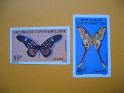 Timbre Non Dentelé  N° 260 Et 261  Papillons  1976 - Central African Republic