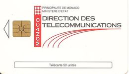CARTE°-PUBLIC-MONACO-50U-MF31-GEM A-7/94-DIRECTION TELECOM-UTILISE-TBE - Monaco