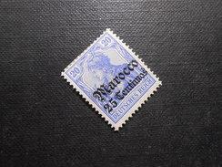 D.R.Mi 37a*/MLH  Deutsche Kolonien ( Marokko ) 1906  Mi 25,00 € - Offices: Morocco