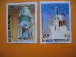 Timbre Non Dentelé  N° 265 Et 266  Opération Viking Sur Mars  1976 - Centrafricaine (République)