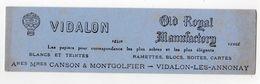 Oct17   80009   Buvard     Vidalon   Cason & Montgolfier - Papeterie