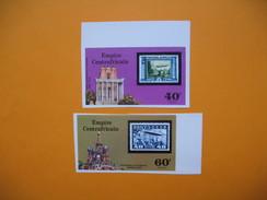 Timbre Non Dentelé  N° 295 Et 296  Vols De Zepplins  1977 - Centrafricaine (République)