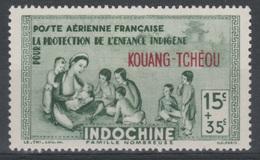 "Kouang-Tcheou, Guangzhouwan (French China), ""Childhood"", 15c. + 35c., 1942, MH VF  Airmail - Unused Stamps"