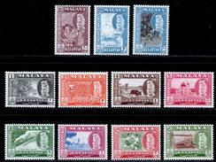 Malaya, Kelantan 1957-1963 MH/MNH Set (exc SG 88) SG 83/94 Cat £60 - Kelantan