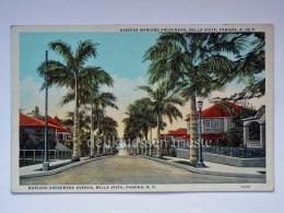 PANAMA BELLA VISTA Mariano Arosemena Av. Old Postcard - Panama