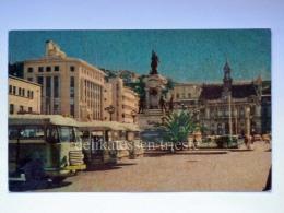 CILE CHILE VALPARAISO Plaza Sotomayor BUS Old Postcard - Cile