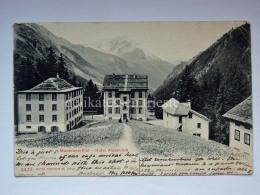 SVIZZERA Schweiz Suisse Maderanertal Hotel Alpenclub AK Old Postcard - UR Uri