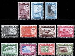 Malaya, Negri Sembilan 1957-1963 MH/MNH Set (exc SG 73) SG 68/79 Cat £55 - Negri Sembilan