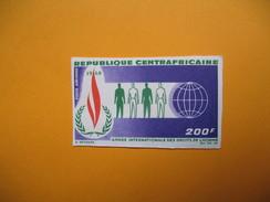 Timbre Non Dentelé  N° PA 55  Année Internationale Des Droits De L'Homme  1968 - Centrafricaine (République)