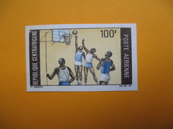 Timbre Non Dentelé  N° PA 75  Sports Divers  1969 - Centrafricaine (République)