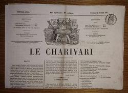 Journal Le Charivari Du 8 Février 1861 - Dessin: Au Bal Masqué - Timbre Impérial Humide 6 Centimes Seine - Journaux - Quotidiens