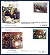 LOT 3 FDC NAPOLÉON 1er- GABON-  TIMBRES DENTELÉS 50- 100- 250 FR- CAD LIBREVILLE 23-04-1969- 2 SCANS - Napoleone
