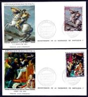 LOT 3 FDC NAPOLÉON 1er- HAUTE-VOLTA- TIMBRES DENTELÉS 50- 150- 250 FR- CAD OUAGADOUGOU 18-8-1969- 2 SCANS - Napoleon