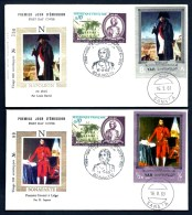 LOT 2 FDC NAPOLEON 1er- YEMEN- TIMBRES DENTELÉS - CAD AJACCIO DU 16-8-69 + SANA'A + TIMBRE FRANCE - Napoleon