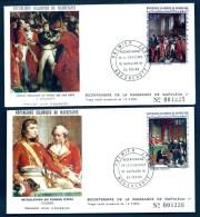 LOT 3  FDC NAPOLÉON 1er- MAURITANIE- TIMBRES DENTELÉS 50- 90- 250 FR- CAD NOUAKCHOTT 24-02-1969- 2 SCANS - Napoleon