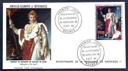 FDC NAPOLÉON 1er- NOUVELLE-CALÉDONIE- TIMBRE DENTELÉ 40 FR- CAD  NOUMÉA 2-10-1969- - Napoleon