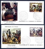 LOT 3 FDC NAPOLÉON 1er- TCHAD-  TIMBRES DENTELÉS 30- 85- 130 FR- CAD FORT-LAMY DU  23-07-1969- 2 SCANS - Napoleon