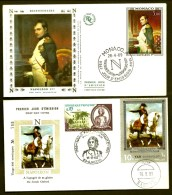 LOT 2 FDC NAPOLEON 1er- YEMEN ET MONACO- TIMBRES DENTELÉS - CAD AJACCIO DU 16-8-69 + SANA'A + TIMBRE FRANCE- - Napoleon