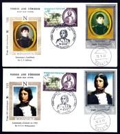 SÉRIE 6 FDC NAPOLEON 1er- YEMEN- TIMBRES DENTELÉS- CAD AJACCIO DU 16-9-69 + SANA'A + 2 TIMBRES FRANCE- - Napoleon