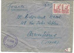 Cachet REGIMENTO DE LA VICTORIA N° 28, 10e BATTALLON, ESPANA 1938 SOBRE CENSURA MILITAR SAN ILDEFONSO, Pour La France - Nationalistische Censuur