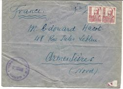 Cachet REGIMENTO DE LA VICTORIA N° 28, 10e BATTALLON, ESPANA 1938 SOBRE CENSURA MILITAR SAN ILDEFONSO, Pour La France - Nationalistische Zensur